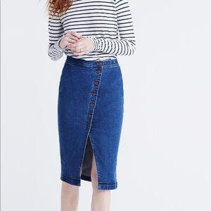 Madewell Asymmetrical Denim Skirt
